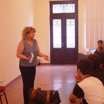 Lesson in Tourism princeples,Intervew, Dictionary presentation, Batumi, 2006